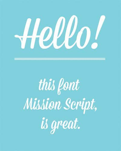 Font Mission Script