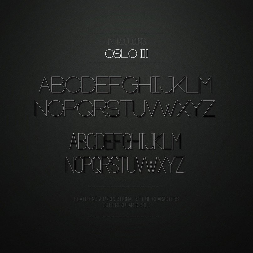 Download Oslo font (typeface)