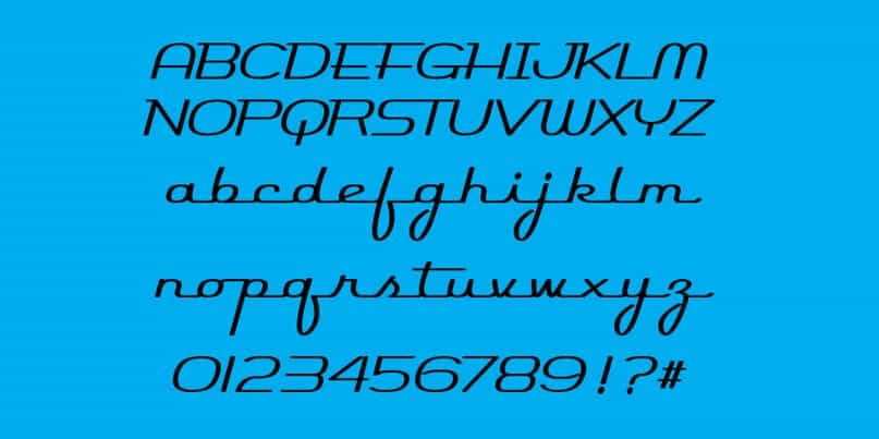 Download Rocket Script SW font (typeface)