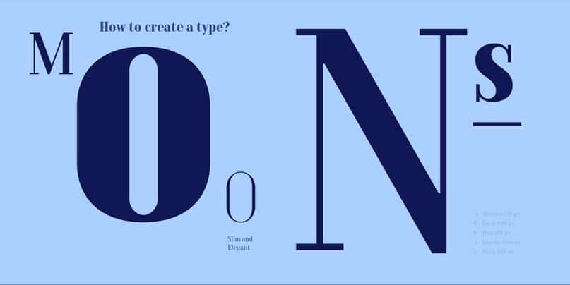 Download moons thin italic font (typeface)
