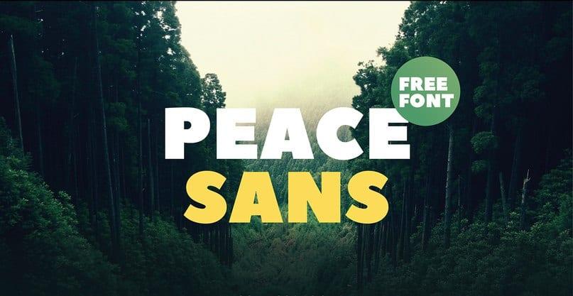 Download Peace sans font (typeface)