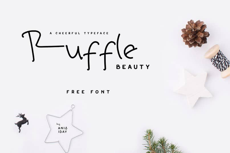 Download Ruffle Beauty font (typeface)