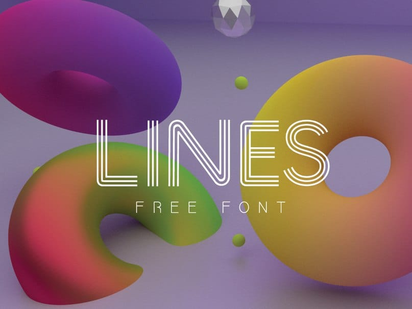 Download LINES font (typeface)