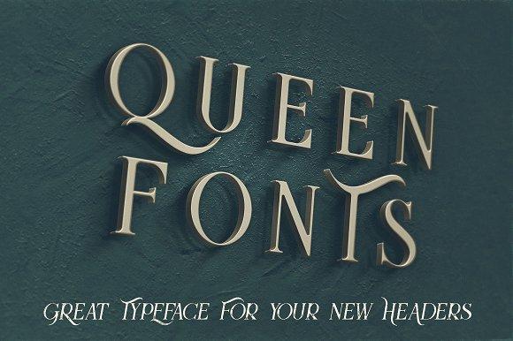 Download QUEEN font (typeface)