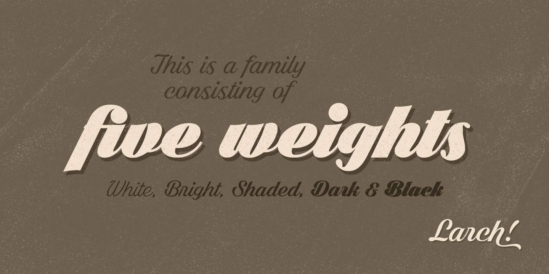 Download larch font (typeface)