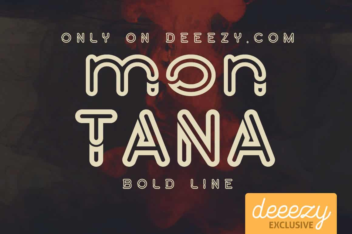 Download Montana Bold Line font (typeface)