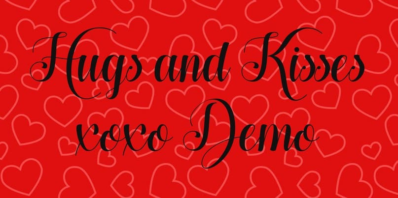Download hugs and kisses xoxo font (typeface)