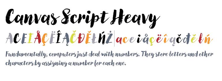 Download Canvas font (typeface)