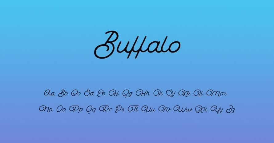Download Buffalo Script font (typeface)