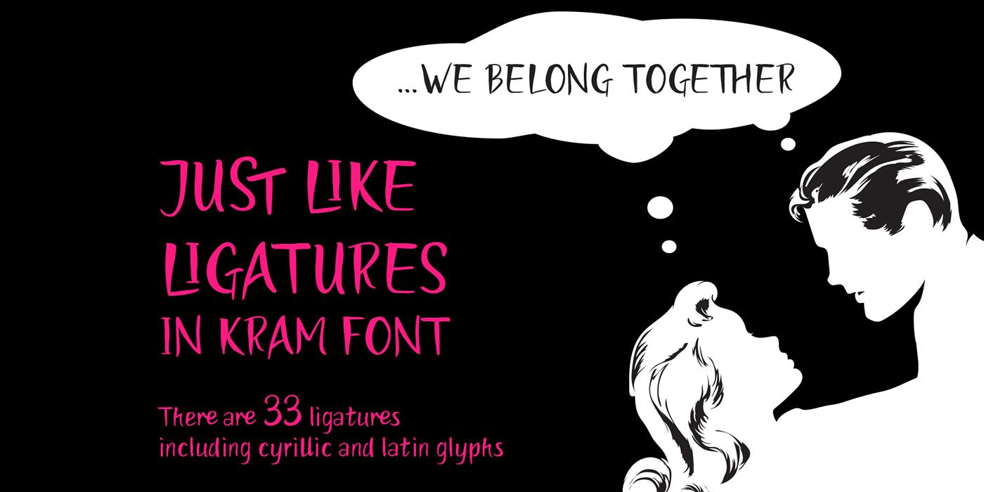Download kraM font (typeface)