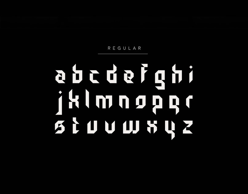 Download Gothic Tangram font (typeface)