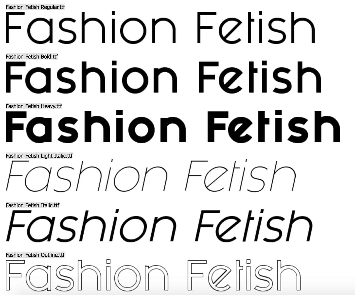 Download Fashion fetish font (typeface)