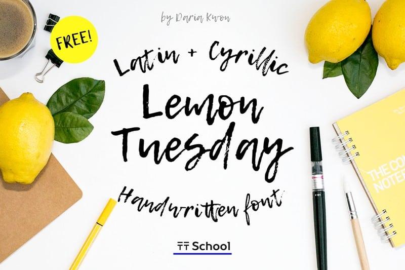 Download Lemon Tuesday font (typeface)