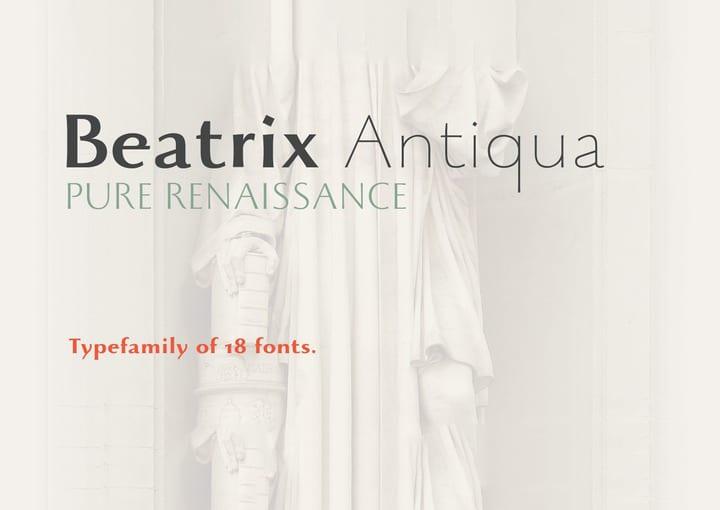 Download Beatrix Antiqua font (typeface)