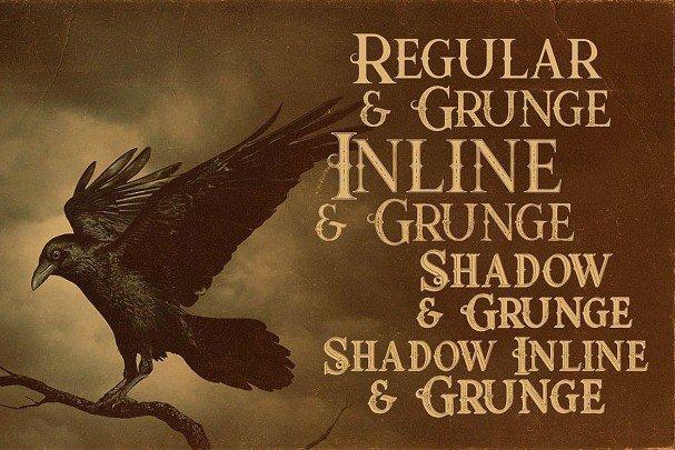 Download Raven Typeface font (typeface)