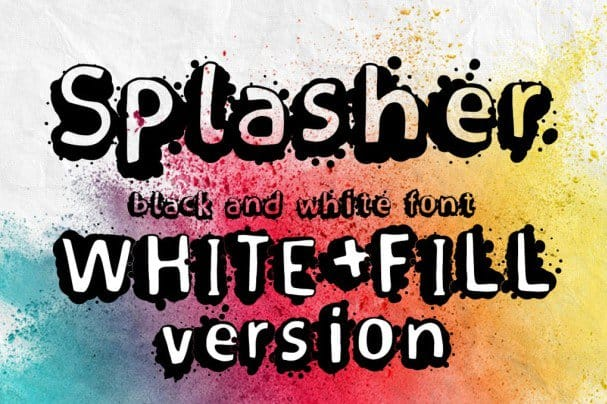 Download Splasher + White Fill version font (typeface)