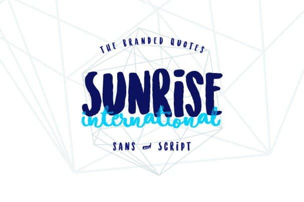 Download Sunrise International (Typeface) font (typeface)