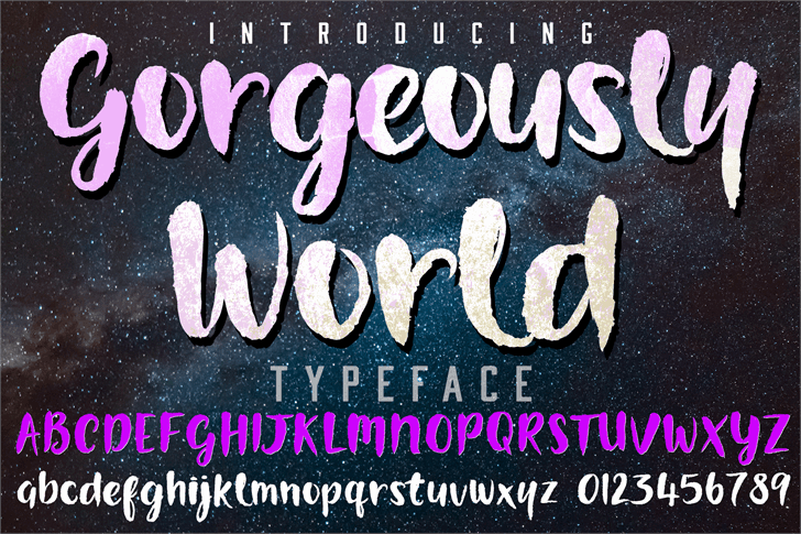 Download Gorgeously World font (typeface)