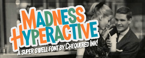 Download Madness Hyperactive font (typeface)