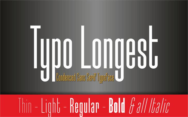 Download Typo-Longest font (typeface)