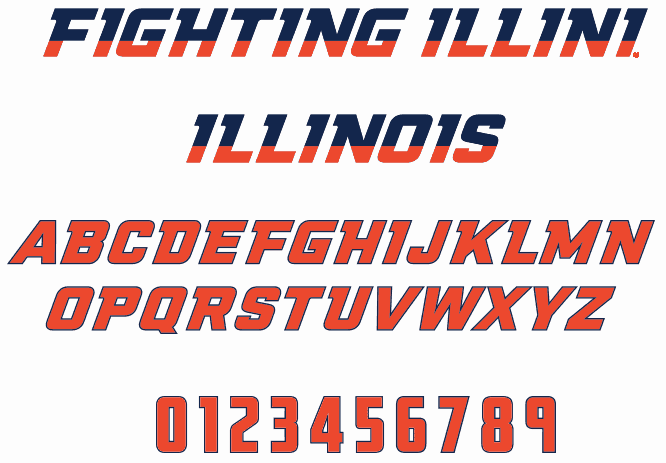 Download NCAA Illinois Fighting Illini font (typeface)