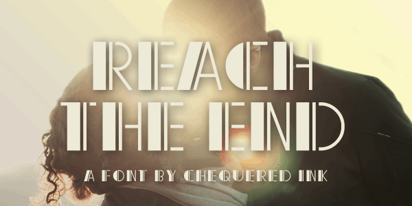 Download Reach the End font (typeface)