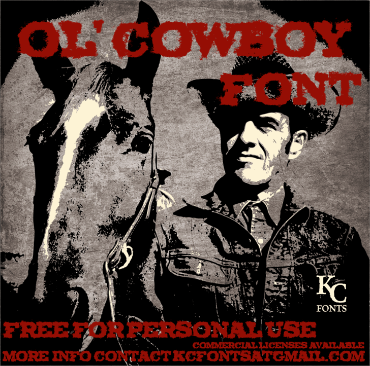 Download Ol' Cowboy font (typeface)