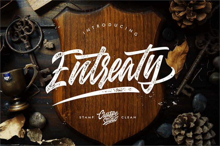 Download Entreaty font (typeface)