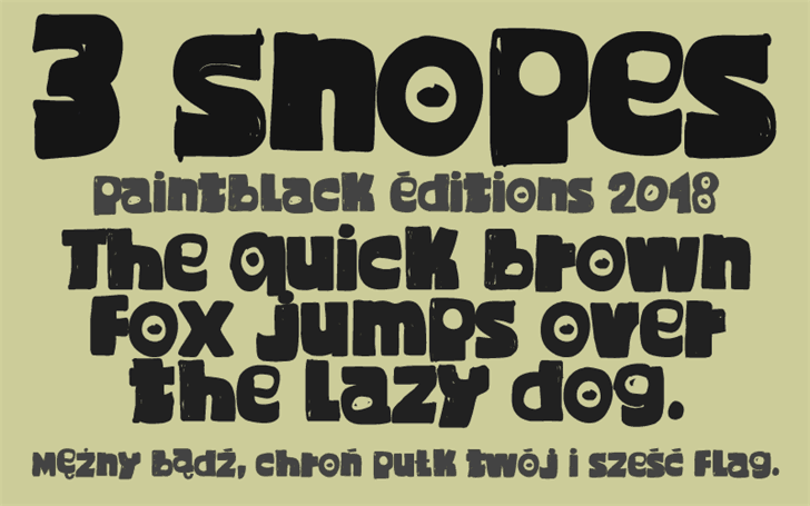 Download 3 Snopes font (typeface)