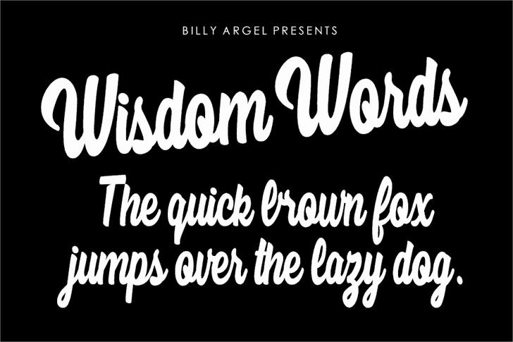 Download Wisdom Words font (typeface)
