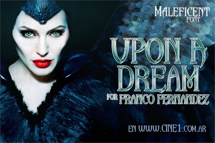 Download Upon A Dream (Maleficent) font (typeface)