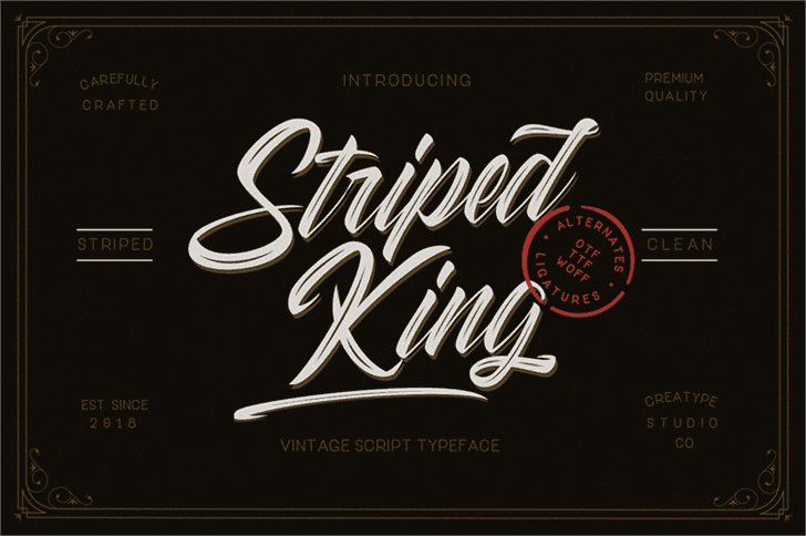 Download Striped King Clean font (typeface)
