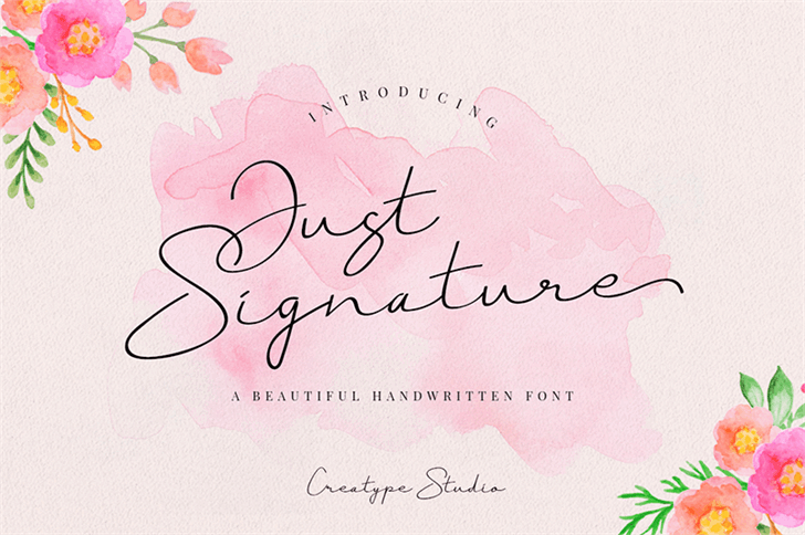 Download Just Signature font (typeface)