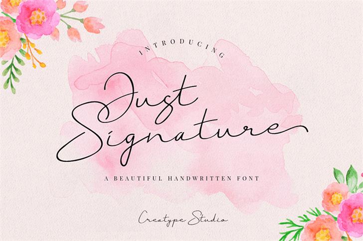 Download Just Signature font (typeface)