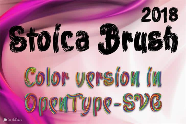 Download Stoica Brush font (typeface)