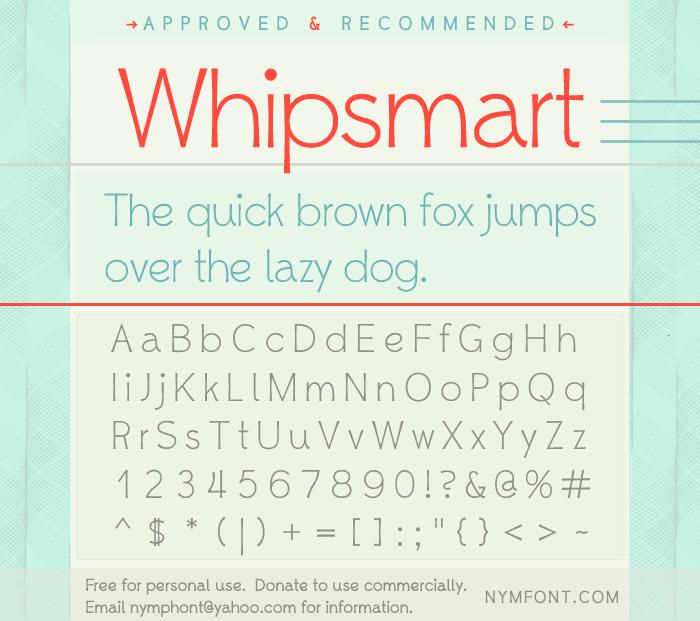 Download Whipsmart font (typeface)