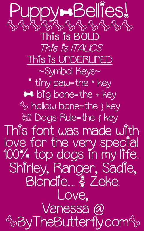 Download Puppy Bellies font (typeface)