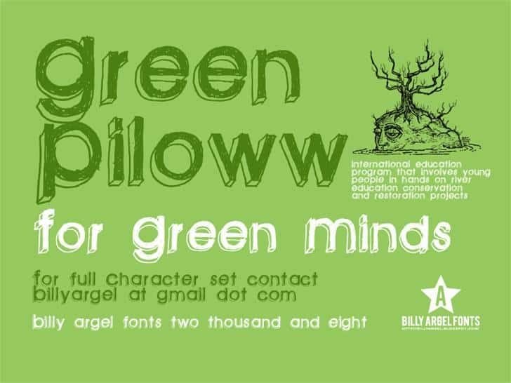 Download Green piloww font (typeface)