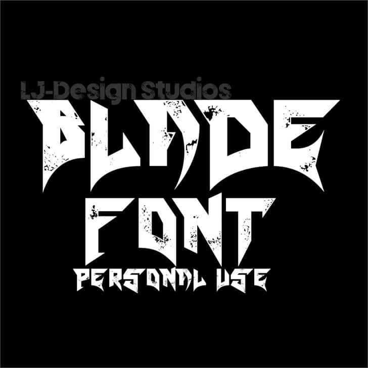 Download Blade font (typeface)