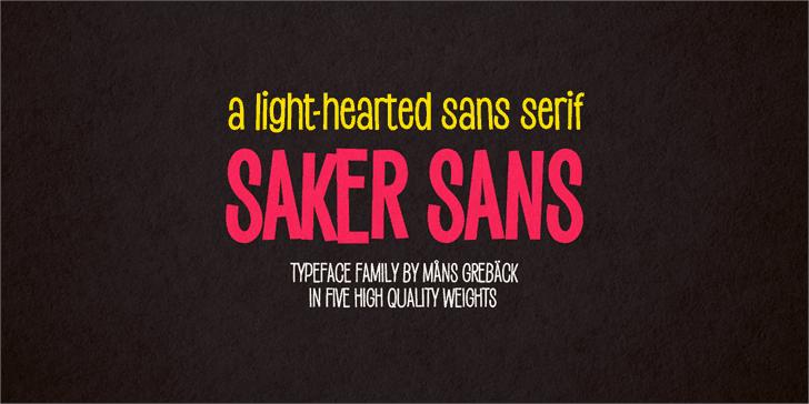 Download Saker Sans Bold font (typeface)