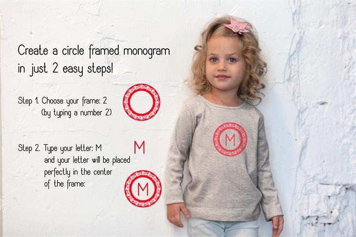 Monogram Framer шрифт скачать бесплатно