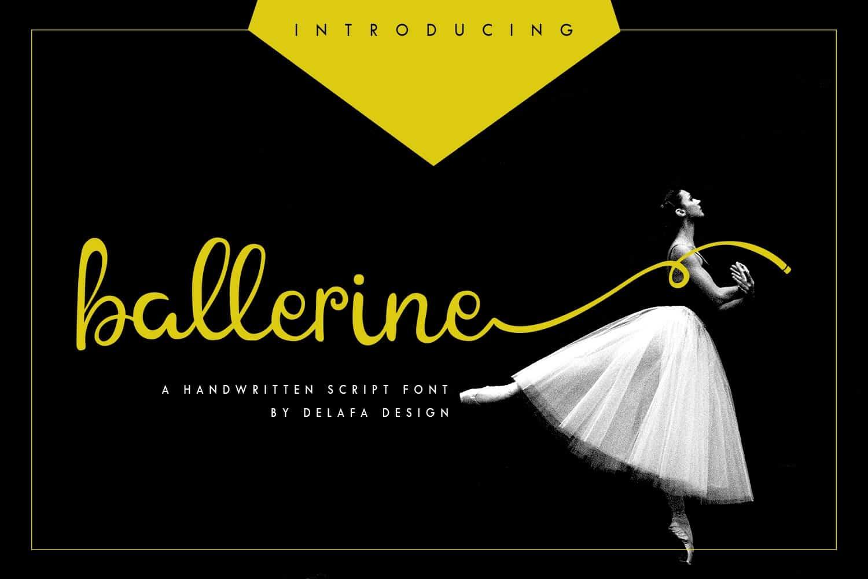 Ballerine Script шрифт скачать бесплатно
