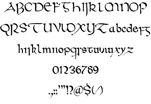 Download Wintanceastre font (typeface)