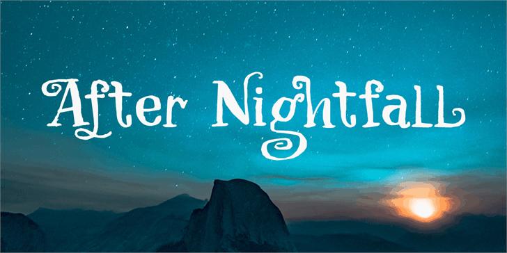 After Nightfall шрифт скачать бесплатно