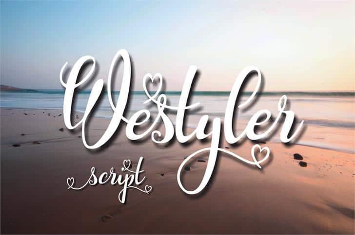 Westyler шрифт скачать бесплатно