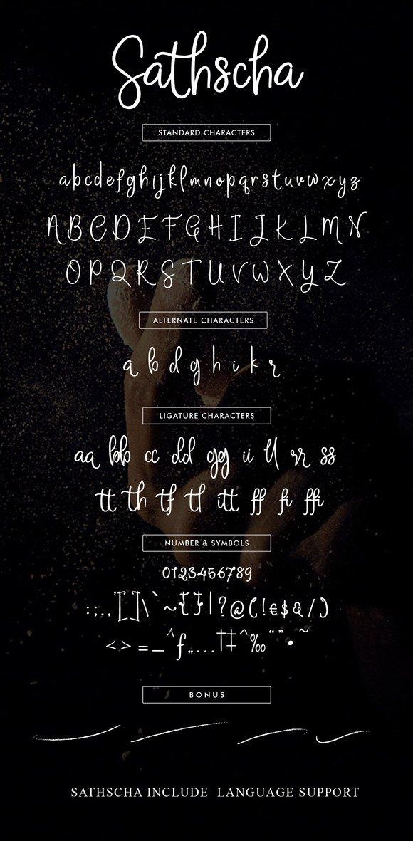 Sathsca шрифт скачать бесплатно