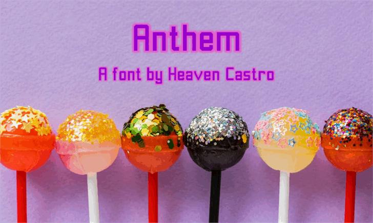 Anthem шрифт скачать бесплатно