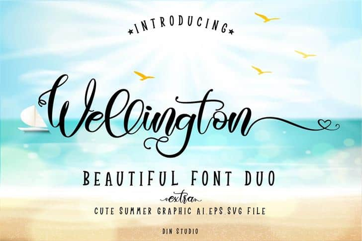 Wellington Regular font free download Ⓐ AllBestFonts com