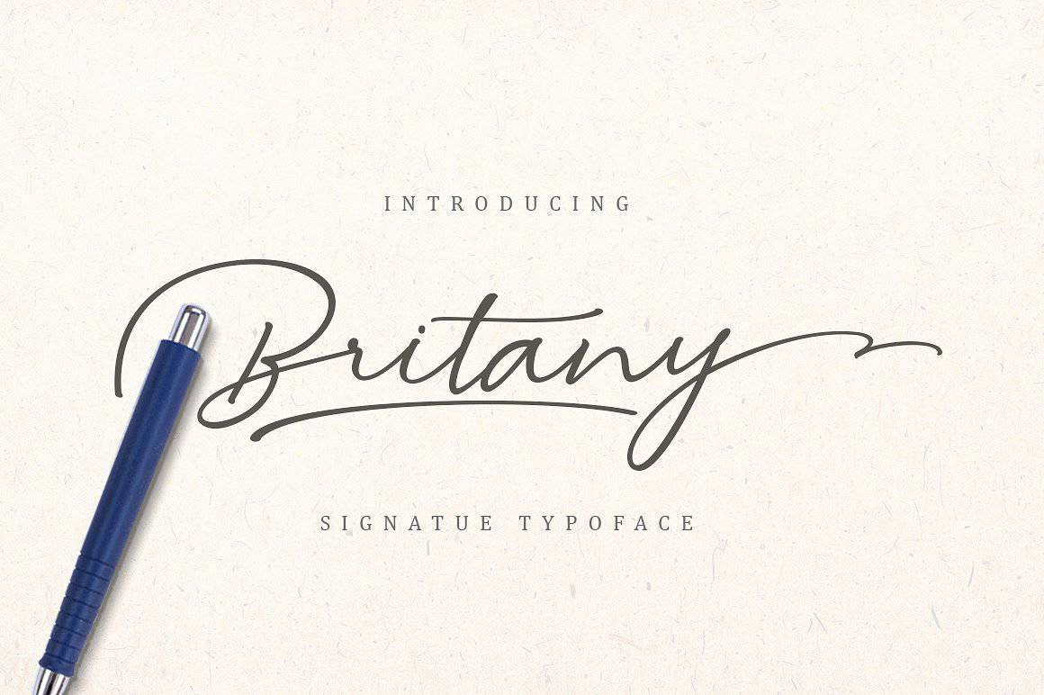 Download Britany font (typeface)