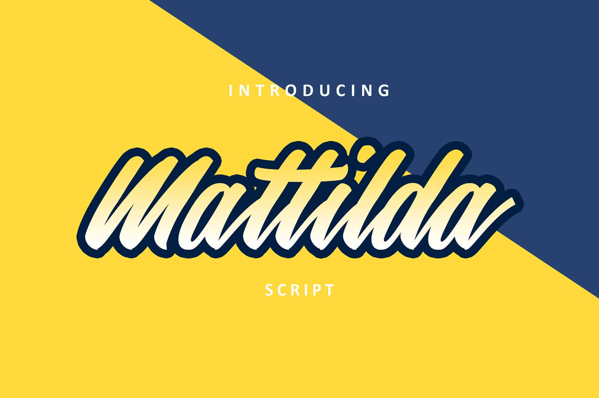 Mattilda шрифт скачать бесплатно